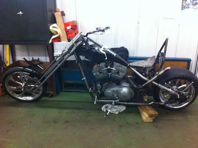 Softail Chopper Build Complete!