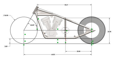 sportster frame drawing2