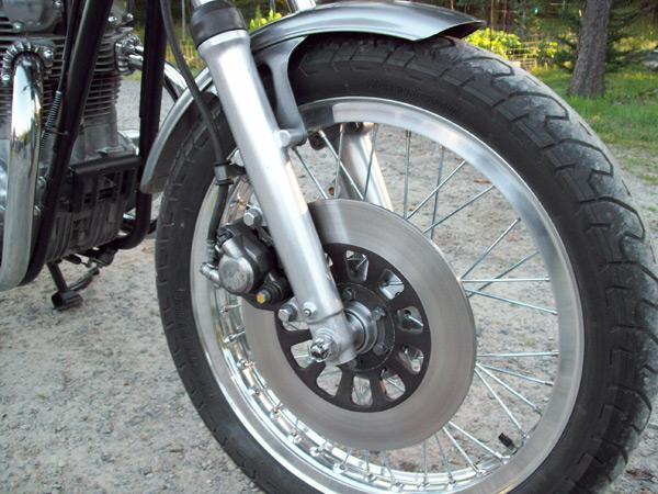 restored front wheel